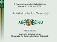 Abfallwirtschaft in Österreich - an den technischen Universitäten der ...