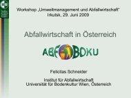 Abfallwirtschaft in Österreich (Frau F. Schneider) 2,8 MB (de)