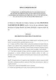 """minuta projeto de lei """"consolida as disposições do plano diretor do ..."""