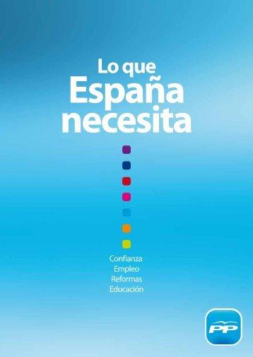 Programa electoral - Partido Popular