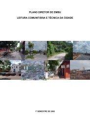 leitura da cidade de embu para a elaboração do plano diretor