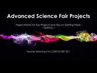 advanced projects - Central Utah Science & Engineering Fair