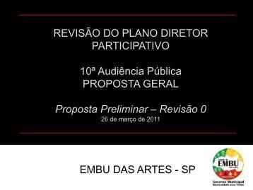 REVISÃO DO PLANO DIRETOR PARTICIPATIVO 10ª Audiência ...