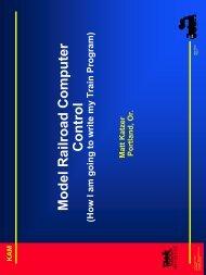 Model Railroad Computer Control - The Conductor