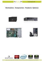 Workstations - Komponenten - Peripherie -Optionen - ProGraphics24
