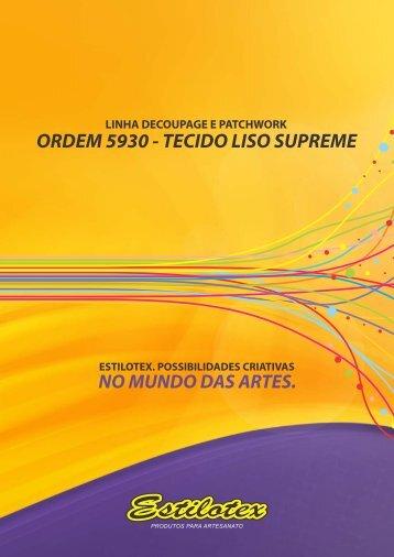 5930 - tecido liso supreme para decoupage e patchwork - Estilotex
