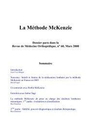 La Méthode McKenzie - sofmmoo