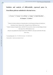 Isolation and analysis of differentially expressed genes in ...
