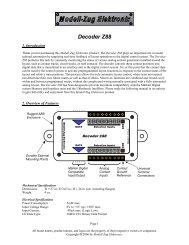 Decoder Z88 Owner's Manual - Modell-Zug Elektronix