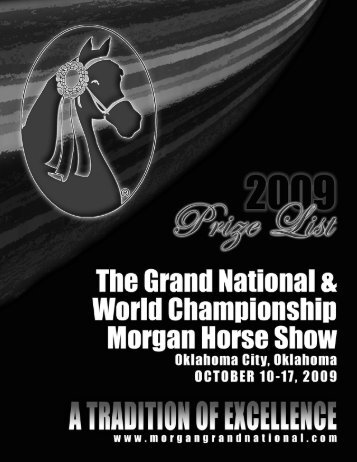 Prize List - Grand National & World Championship Morgan Horse ...