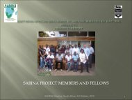 SABINA PROJECT MEMBERS AND FELLOWS