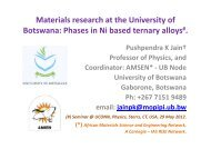 Phases in Ni based ternary alloys - Science Initiative Group