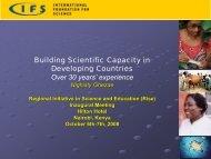 IFS: International Foundation for Science Grants Program