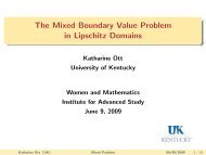 The Mixed Boundary Value Problem in Lipschitz Domains - IAS