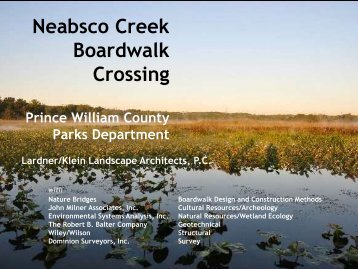 Neabsco Creek Boardwalk Crossing - Lardner/Klein Landscape ...