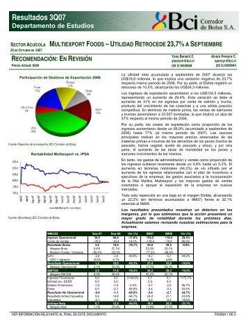 Multiexport - 31 de Octubre 2007 - Bci