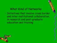 Overview and Analysis of African Regional Networks - Science ...