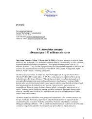 TA Associates compra eDreams por 153 millones de euros