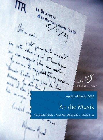 schubert an die musik pdf
