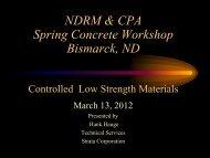 Spring Concrete CLSM March 2012 - north dakota ready mix ...