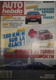 Auto Hebdo Nº612 - Renault 21