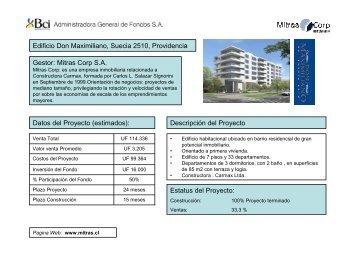 Informe Fondo Bci Desarrollo Inmobiliario _ Septiembre 2008