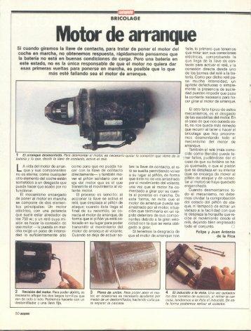 Bricolage motor de arranque - Renault 21