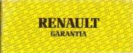 Carta de garantía - Renault 21