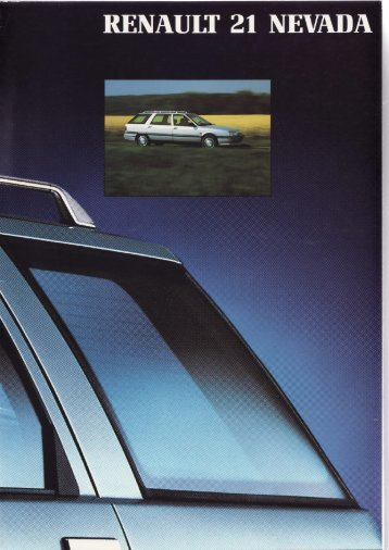 Catálogo del 21 Nevada, Febrero 1991 - Renault 21