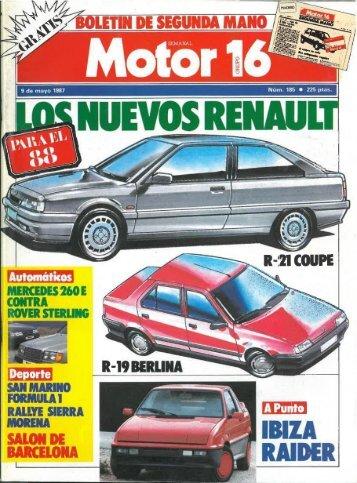 Motor 16 Nº185 9 Mayo 1987 - Renault 21