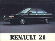 Manual usuario Renault 21 Fase 2 4 puertas