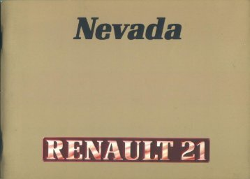 Manual de usuario - Renault 21 Nevada (fase 1)