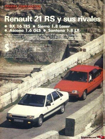 (GTS) y sus rivales - Renault 21