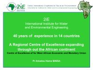 2iE: International Institute for Water and Environmental Engineering