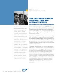 sap® customer services network, your erp upgrade partner