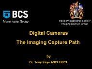 Digital Cameras The Imaging Capture Path - RPS Imaging Science ...