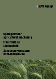 Spare parts for agricultural machinery Ersatzteile ... - PW Group GmbH