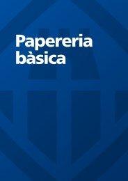 Papereria bàsica - Ajuntament de Vilanova i la Geltrú