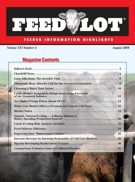 August - Feedlot Magazine
