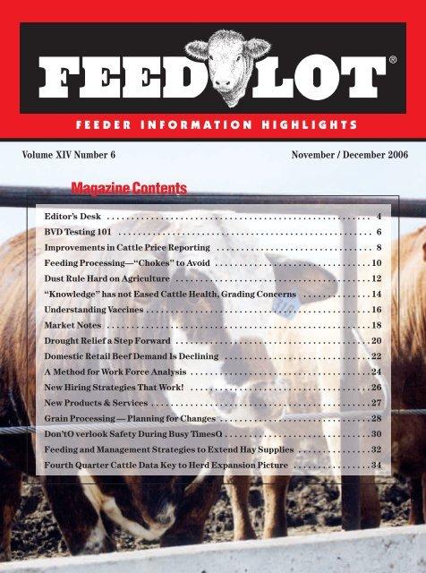 November/December - Feedlot Magazine