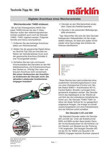 Technik-Tipp Nr. 304 - Märklin