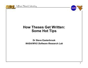 """""""How to Write a Thesis"""" by Steve Easterbrook (PDF)"""