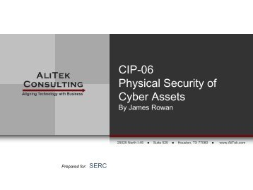 CIP-06 Physical Security of Cyber Assets - SERC Home Page