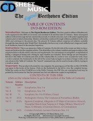 The Digital Beethoven Edition - CD Sheet Music