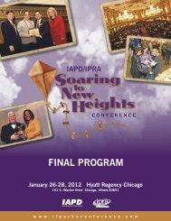 FINAL PROGRAM - IL Parks Conference