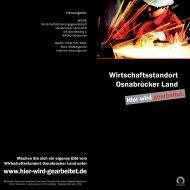 Wirtschaftsstandort Osnabrücker Land - Economic Regions