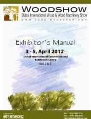 Exhibitors' Manual 2012 - Dubai Woodshow