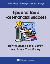 Tips and Tools For Financial Success - Newton Free Library