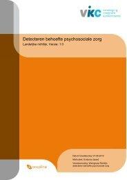 Richtlijn: Detecteren behoefte psychosociale zorg ... - medisch fitness