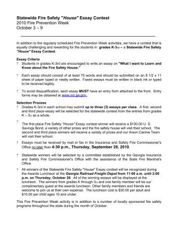 fire safety 2 essay Washington county firemen's association education, training, advocacy home news calendar about us and seventh grade students in washington county the topic for this year is home fire safety all essay must be written on this topic to be eligible there will be five (5) winners.